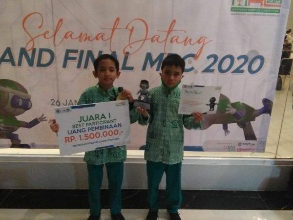Juara 1 Best Participant Madrasah Robotics Competition 2020 tingkat Nasional, Kamis, 28 Januari 2021, DKI Jakarta